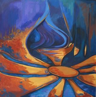 Acrylic on canvas, 100 x 100 cm, 2008