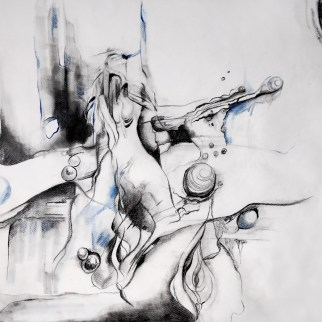 Mixed media on paper, 100 x 70 cm