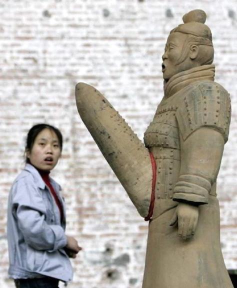 Una de las esculturas divertidas chinas