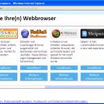 Browserwahl Auswahl mehr