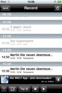 OnlineTVRecoder iPhone App