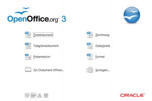 Auswahl bei OpenOffice 3.2.1