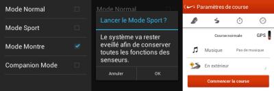 Écrans Mode Omate TrueSmart