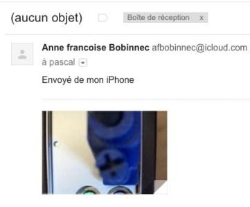 Spam sans titre avec une photo, envoyé d'un iPhone
