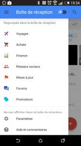Google Inbox tri des courriels