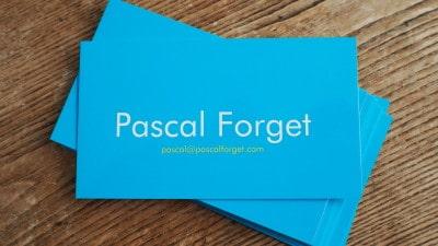 Carte de visite Pascal Forget Vistaprint