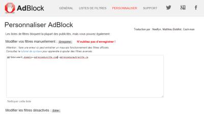 Comment ne bloquer que les sites qui abusent des publicitésavec AdBlock