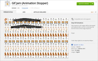 Gif jam animation stopper chrome