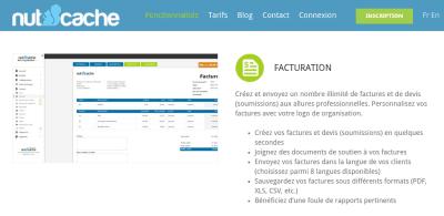Nutcache québécois facturation