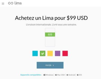 Lima Cloud couleur livraison internationale