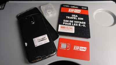 Installation de la Zip Sim dans mon téléphone