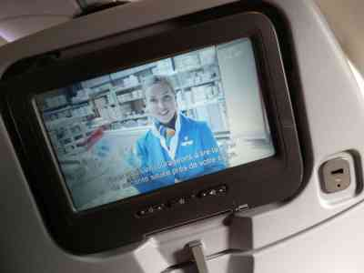 KLM prise USB recharge téléphone avion
