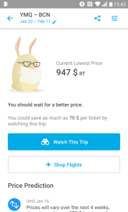 application Hopper vol d'avion moins cher alerte