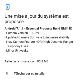Android 7.1.1 Update camera HDR