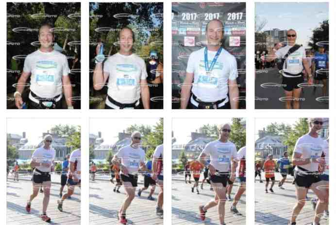 photos de course marathon de Montréal chères