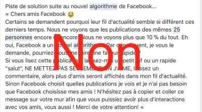Limite 25 personnes changement algorithme Facebook