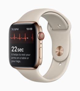 Apple Watch series 4 eeg électroencéphalogramme