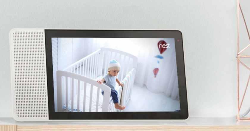 lenovo smart display canada camera surveillance 10 inch google home assistant vocal