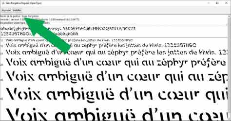 Installer Sans Forgetica dans son ordinateur Windows
