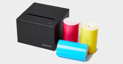 cubinote noir imprimante papier thermique connectée