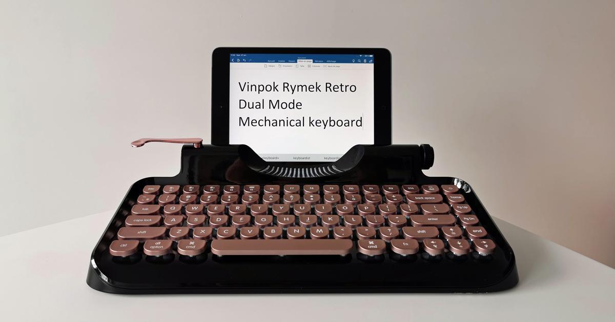 Un clavier sans fil vintage