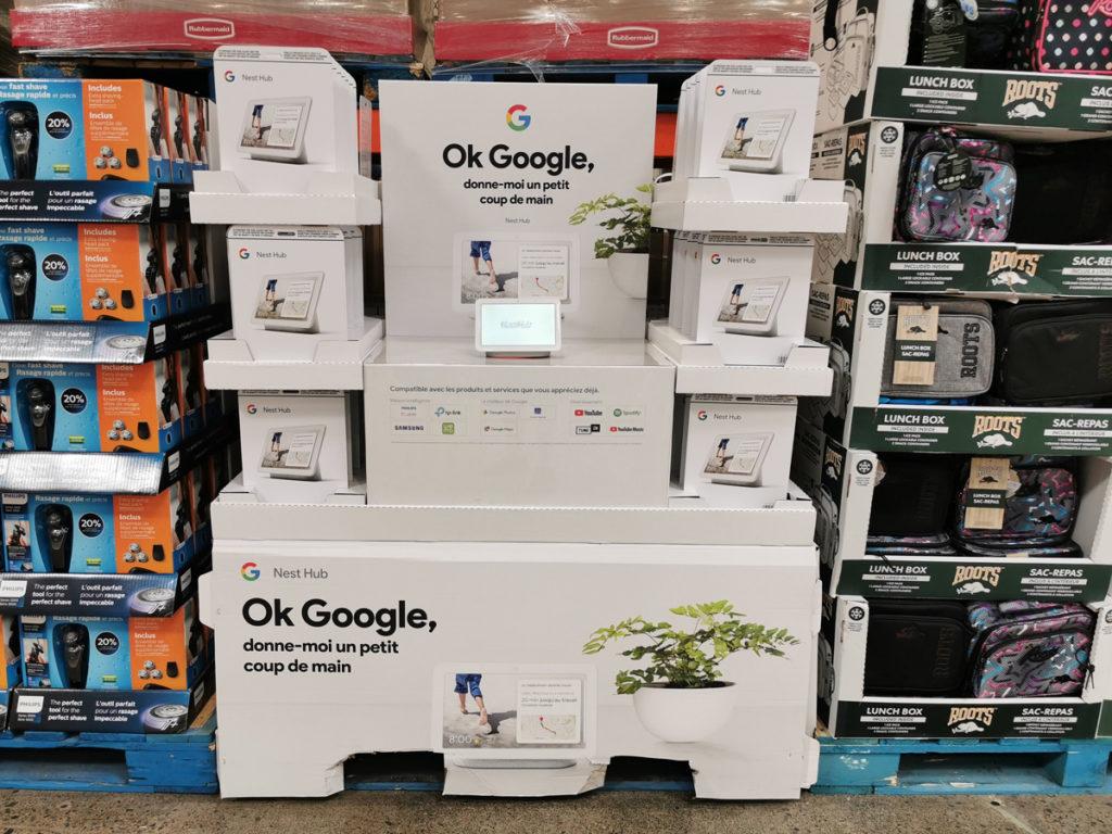 Le Google Nest Hub (anciennement nommé Google Home Hub) en français est maintenant offert au Canada, en ligne et en magasin, même chez Costco.