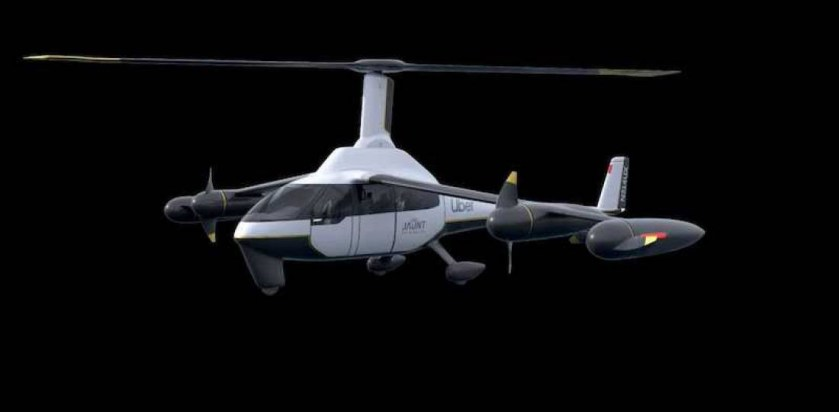 Drone Uber taxi volant Elevate Jaunt Air Mobility