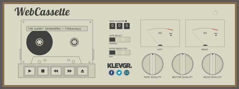Webassette simulateur de lecteur de cassette audio