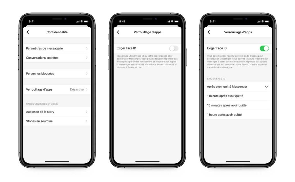 sécurité Messenger verrouillage d'apps App Lock