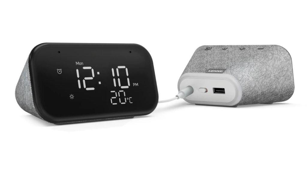 Smart Clock mini Lenovo réveil assistant Google
