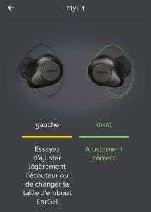 jabra elite 85T smart fit myfit ajustement test