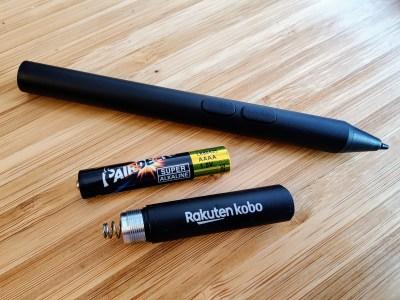 elipsa kobo stylus AAAA battery