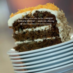 Kumara And Orange Cake with Cream Cheese Frosting