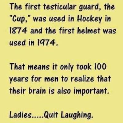 The first testicular guard