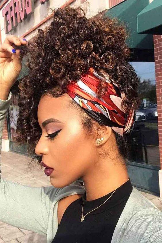 Foulard Cheveux Afro Friss Crpus Ou Boucls