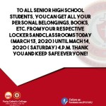 ATTENTION SENIOR HIGH SCHOOL: