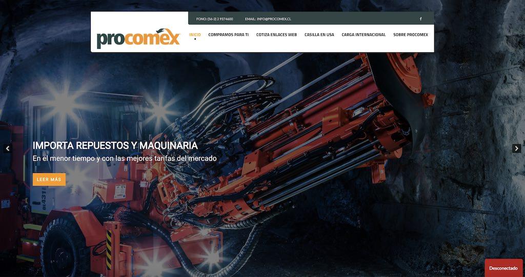 Procomex, traemos el mundo a tus manos - SEO por Pasillodigital.com