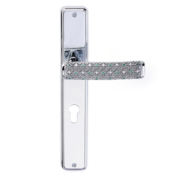 Handle on plate silver crystals dream-2 jewellery