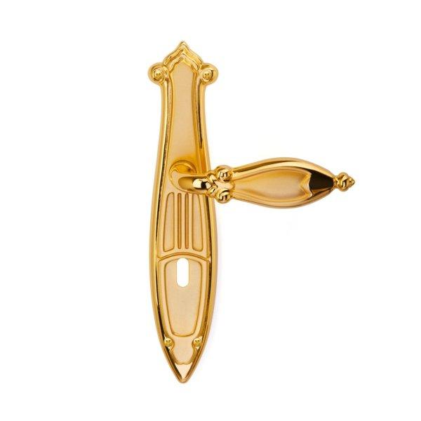 Handle on plate brass gold matt cleopatra classique