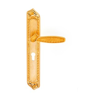 Handle on plate gold 24kt pasha classique