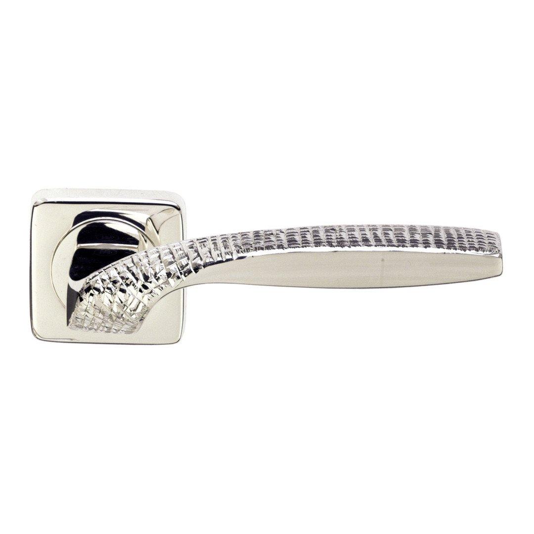 Maniglia su rosetta argento stone Quadrata Jewellery