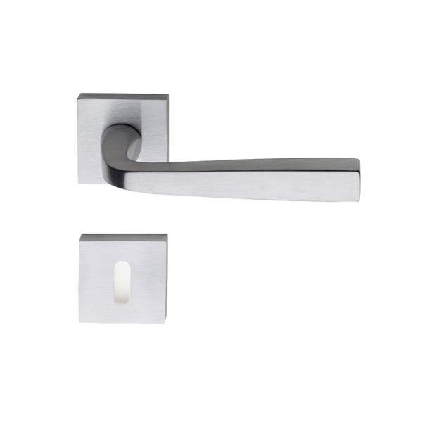 Handle on square rose satin chrome asolo i-design