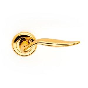 Maniglia su rosetta in oro 24kt Lybra Classique