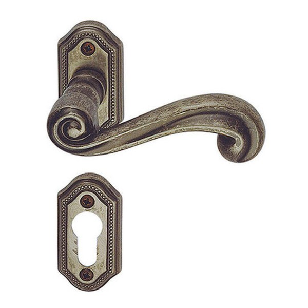 Handle on rose pewter sirio classique-2