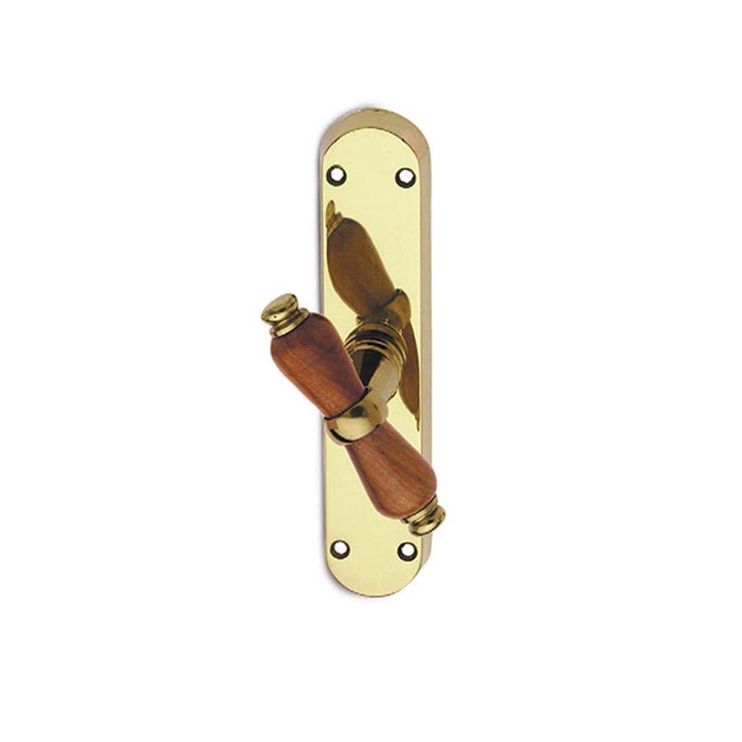 Martellina in ottone lucido verniciato e legno Alfa Easy