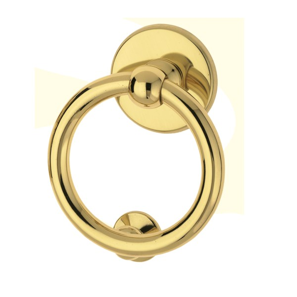 Knocker polished brass Anello