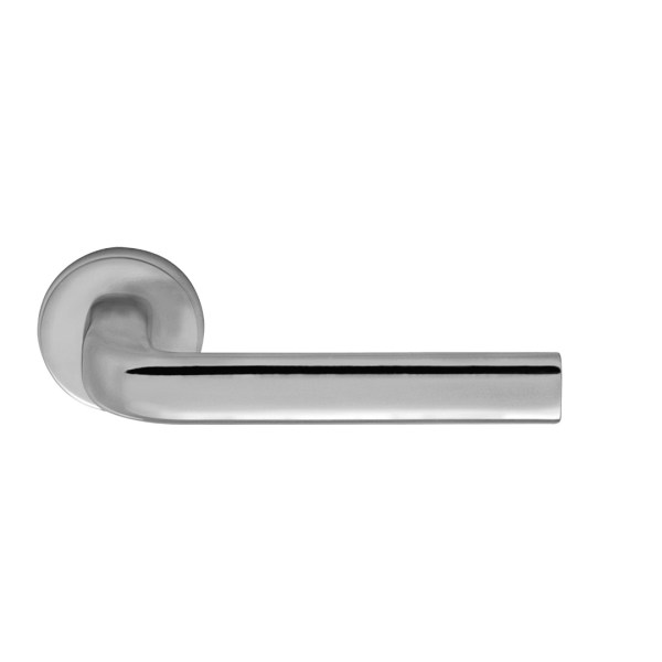 Handle on rose satin chrome alba i-design