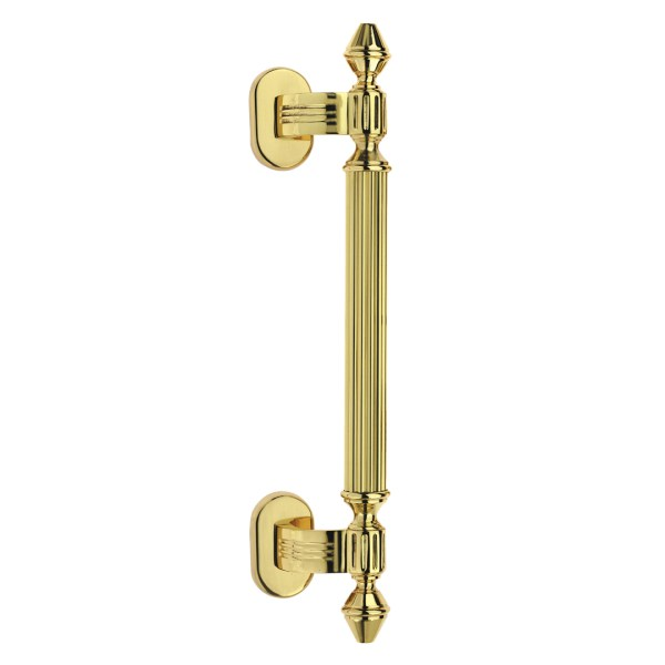 Pull handle polish brass impero classique