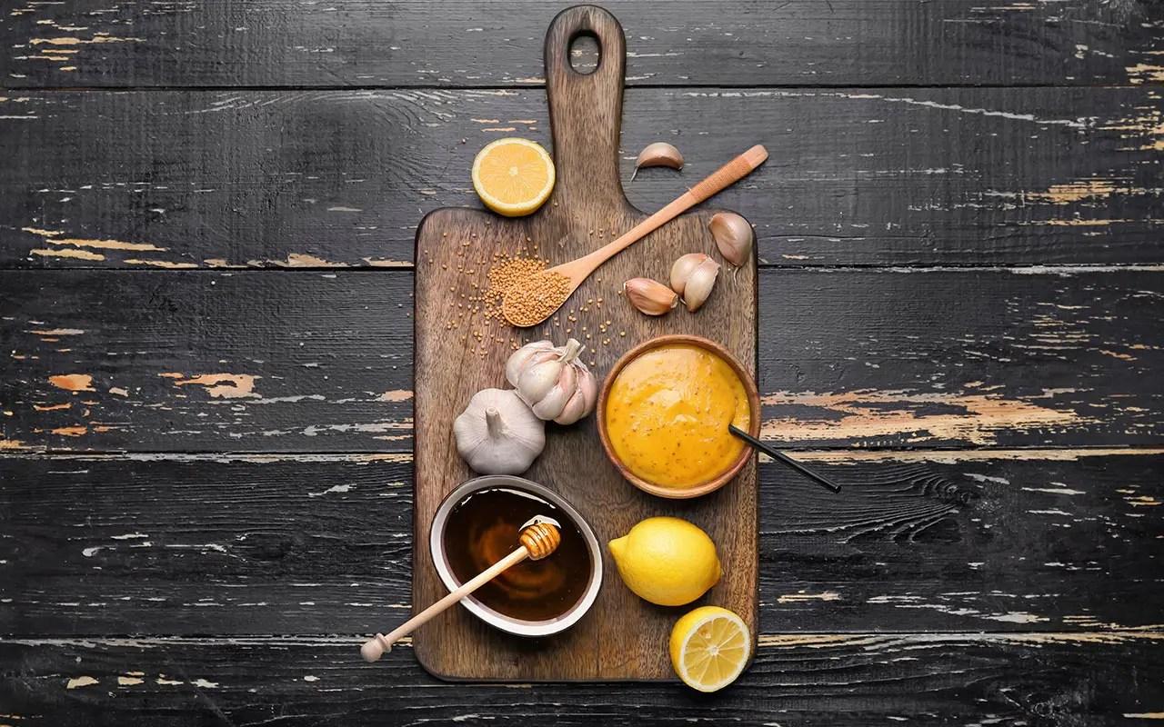 Vinagreta miel mostaza, cítrica, en Thermomix