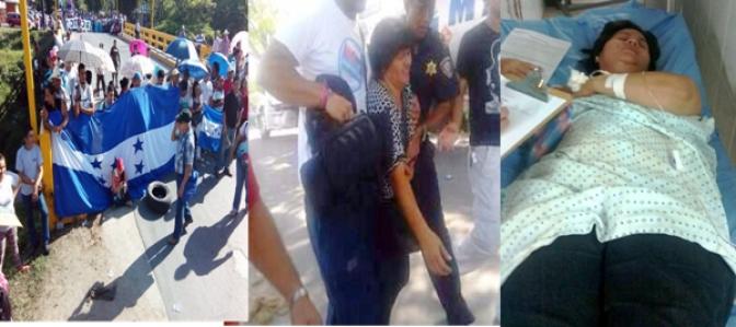 Periodista Dunia Montoya, fue golpeada salvajemente por la policía y el ejército